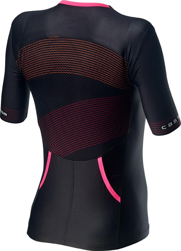 | Castelli Fietsshirt Triatlon Dames Zwart Multikleur - CA Free Speed 2 W Race Top Multicolor Black