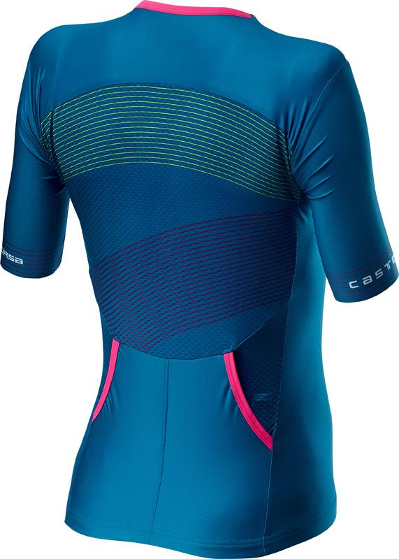 Castelli Fietsshirt Triatlon Dames Blauw Multikleur - CA Free Speed 2 W Race Top Multicolor Marine Blue