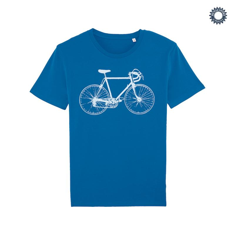 Afbeelding SillyScreens Casual wieler T-shirt heren medium fit Blauw  / RACEFIETS, Heren wieler T-shirt, Royal Blue