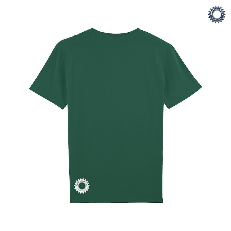 Afbeelding SillyScreens Casual wieler T-shirt heren medium fit Groen  / MOUNTAINBIKE, Heren wieler T-shirt, Bottlegreen