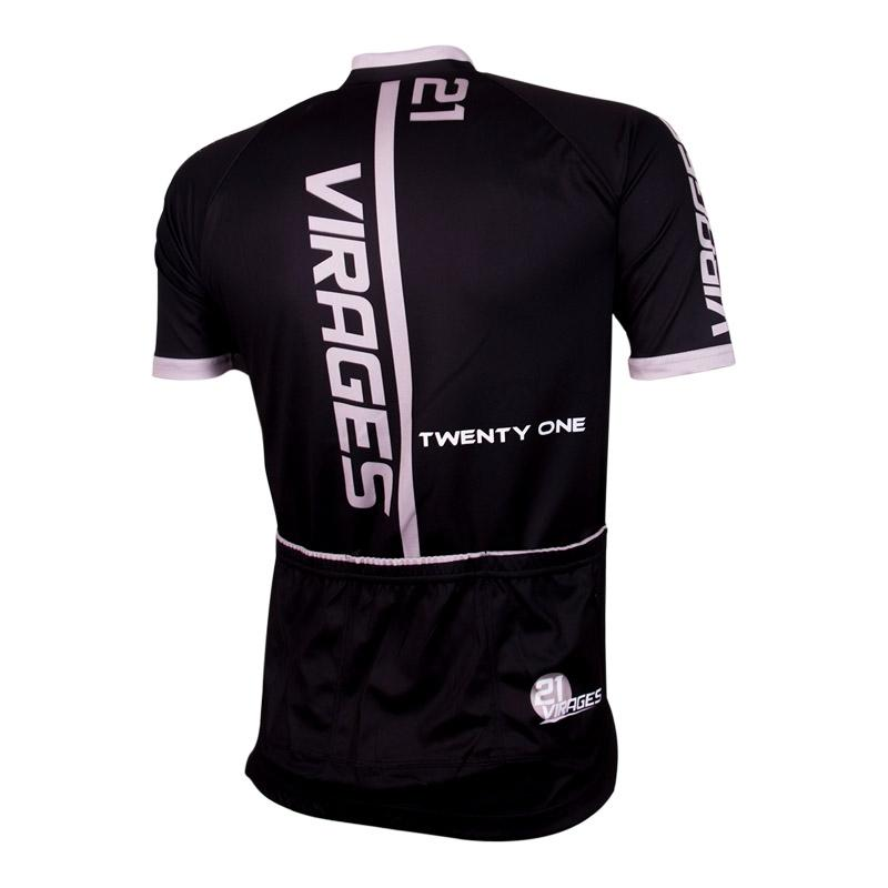 Wielershirt 21Virages Cycling Corp zwart