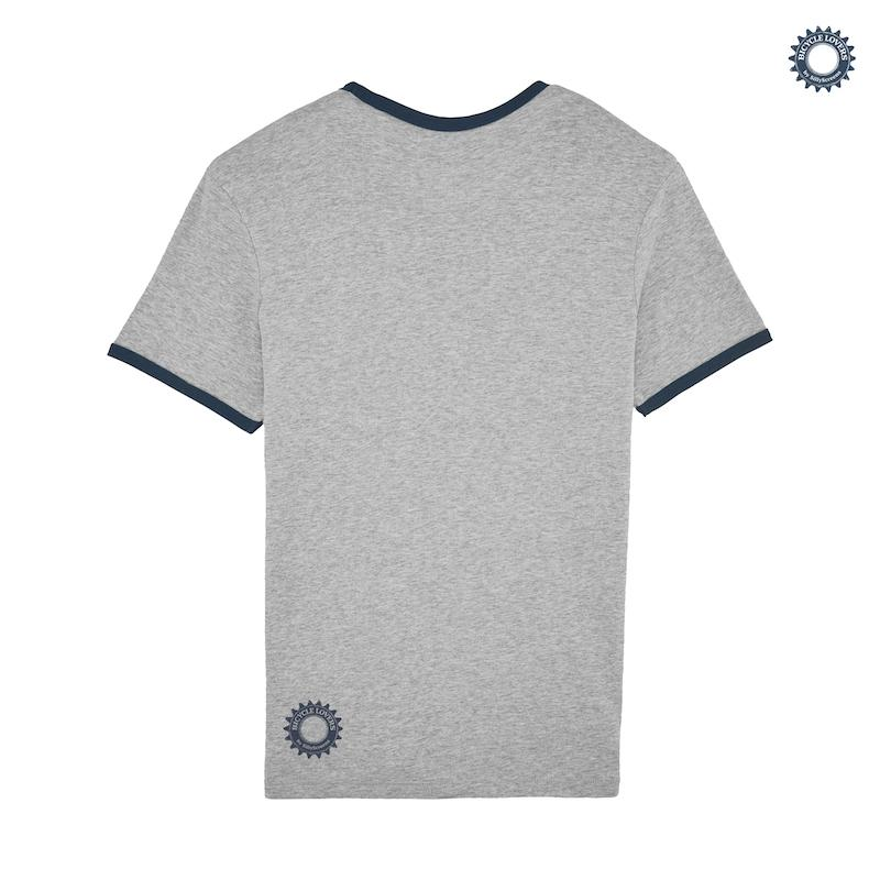 Afbeelding SillyScreens Casual wieler T-shirt Heren medium fit Zwart Zwart / COUREUR, Heren wieler T-shirt met boord,  Heathe