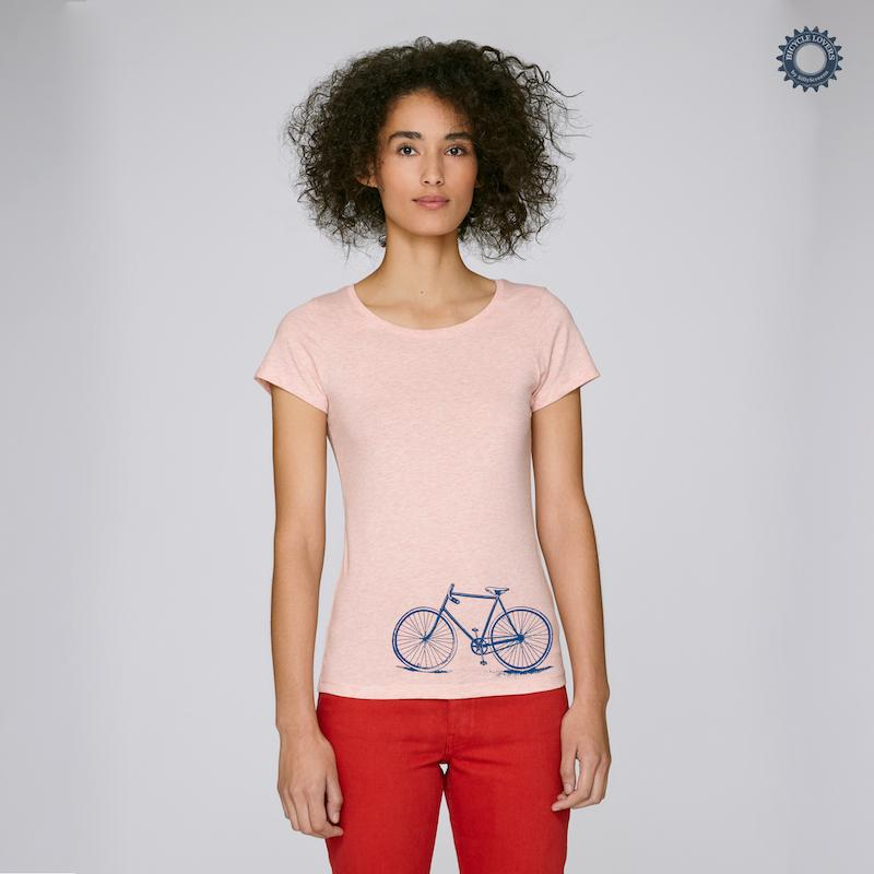 Afbeelding SillyScreens Casual wieler T-shirt dames Fitted Roze  / CROSSRACER, Dames wieler T-shirt, Cream Heather Pink