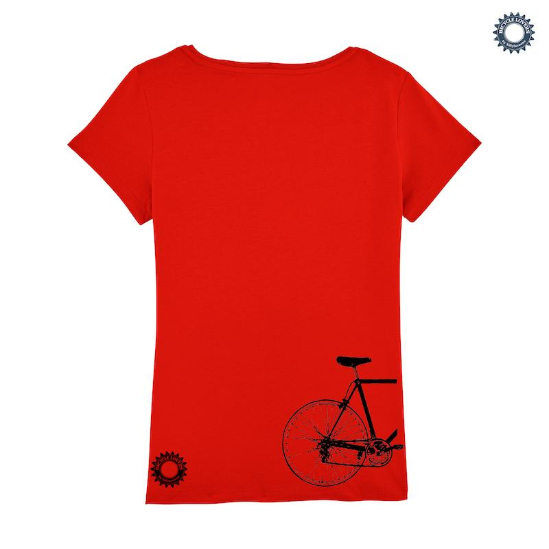 Afbeelding SillyScreens Casual wieler T-shirt dames Fitted Rood  / SPOKESWOMAN, Dames wieler T-shirt, BRIGHT RED