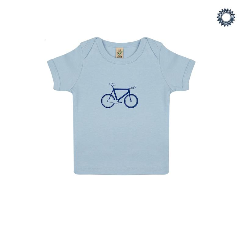 Afbeelding SillyScreens Baby T-shirt baby  Blauw  / BABYRACER, wieler T-shirt, Baby Blue