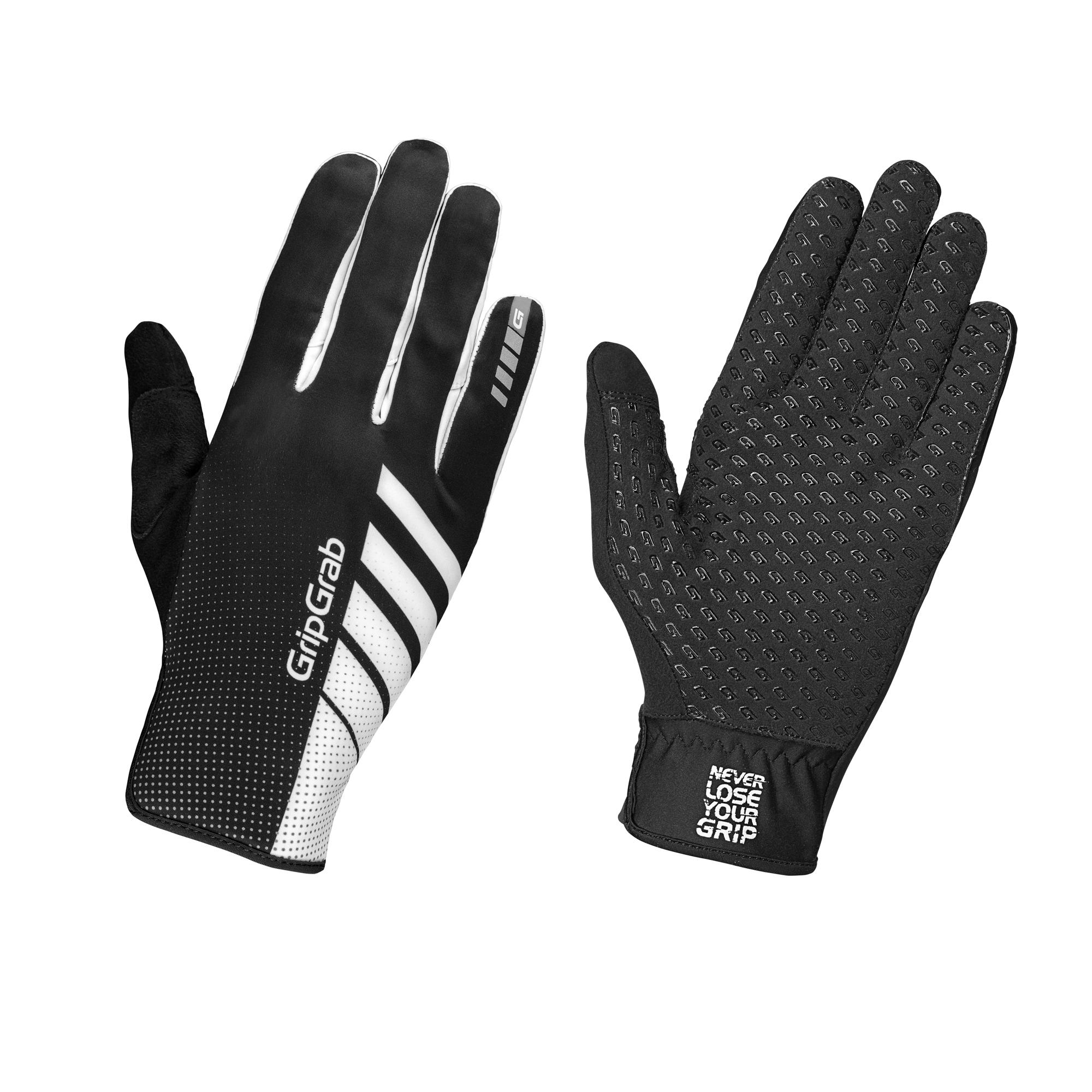 Afbeelding GripGrab Fietshandschoenen Winter Unisex Zwart Wit - Raptor Windproof Raceday Glove Black White