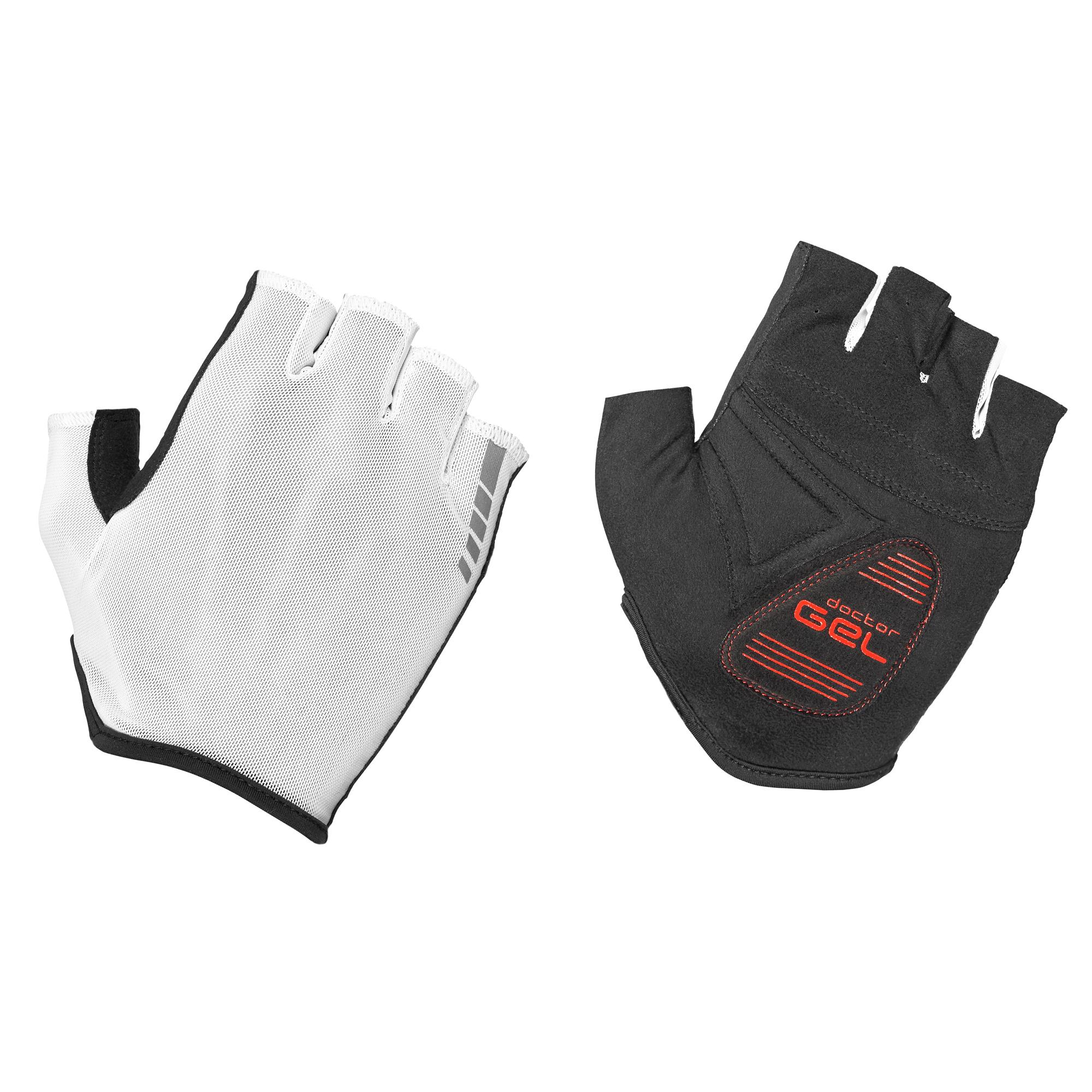 Afbeelding GripGrab Fietshandschoenen zomer Unisex Wit - Solara Lightweight Padded Tan Through Glove White