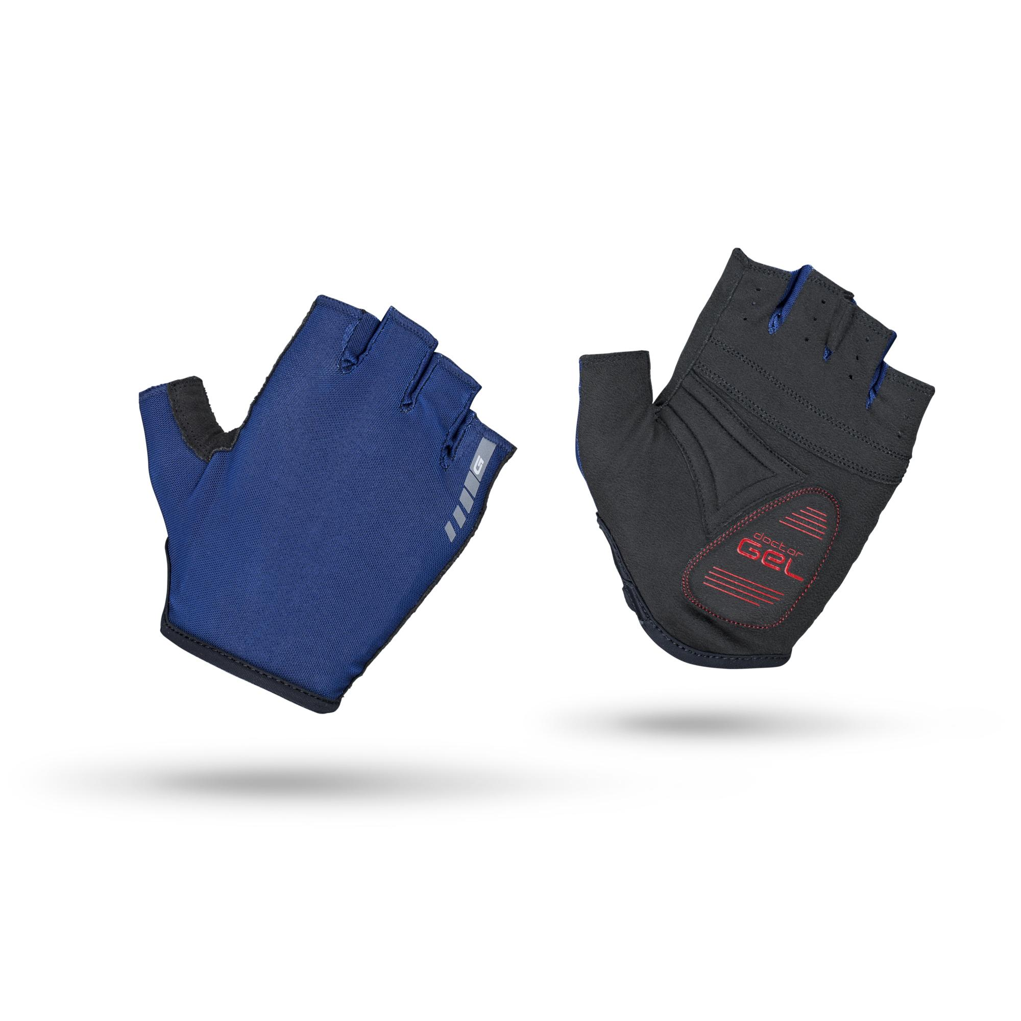 GripGrab Fietshandschoenen zomer Unisex Blauw / Solara Padded Tan Through Short Finger Glove