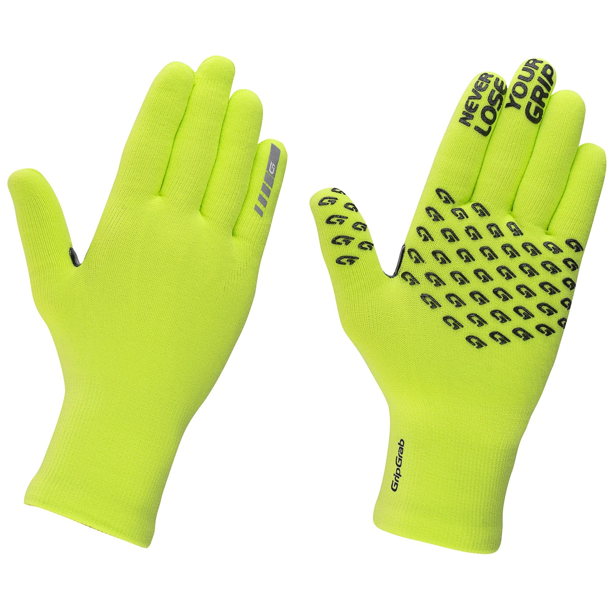 Afbeelding GripGrab Fietshandschoenen Winter Unisex Fluo - Waterproof Knitted Thermal Glove Yellow Hi-Vis