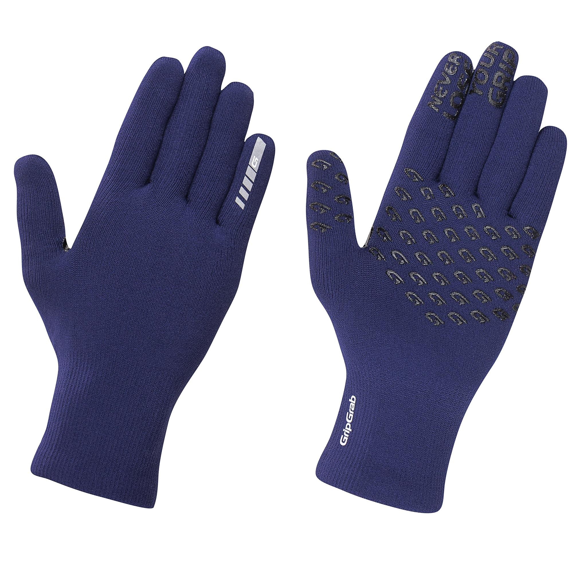 Afbeelding GripGrab Fietshandschoenen Winter Unisex Blauw - Waterproof Knitted Thermal Glove Navy Blue
