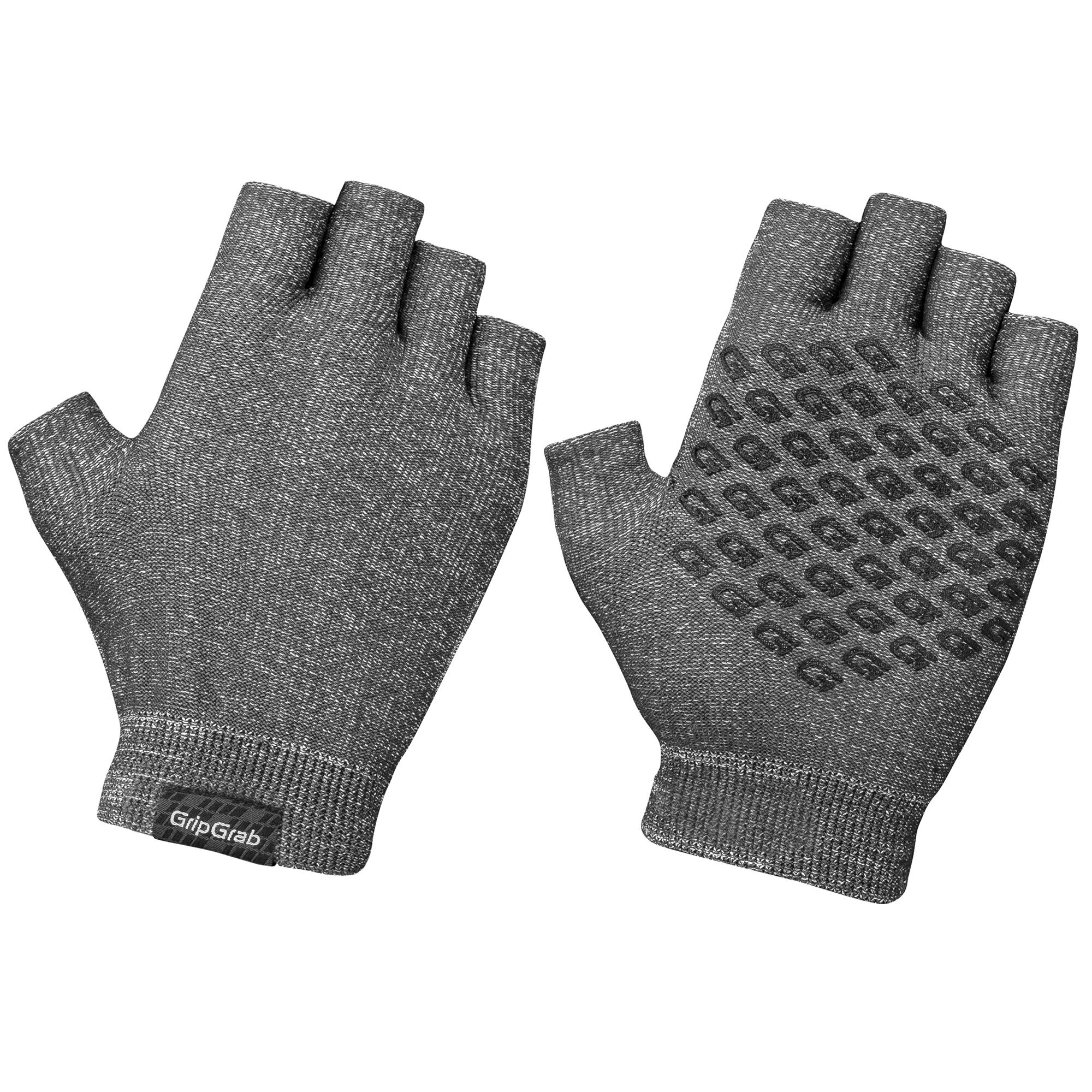 Afbeelding GripGrab Fietshandschoenen Zomer Unisex Antraciet - Freedom Knitted Short Finger Cycling Glove Anthracite