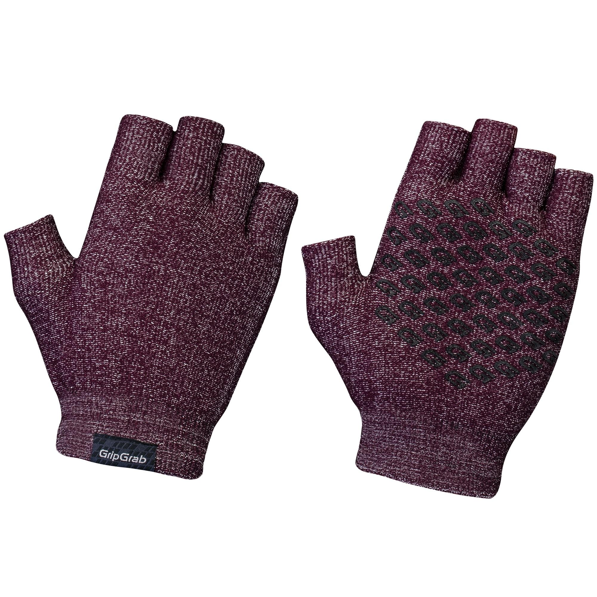 Afbeelding GripGrab Fietshandschoenen Zomer Unisex Rood - Freedom Knitted Short Finger Cycling Glove Dark Red