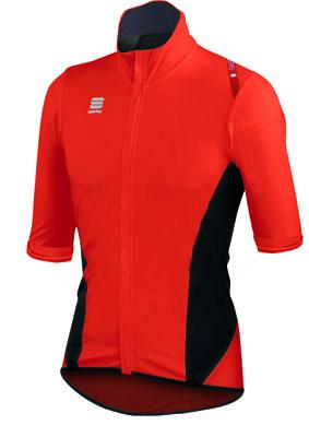 Afbeelding Sportful Fiandre Light NoRain Short Sleeve / Wind/regen Fietsjack korte mouwen Red Fire Black