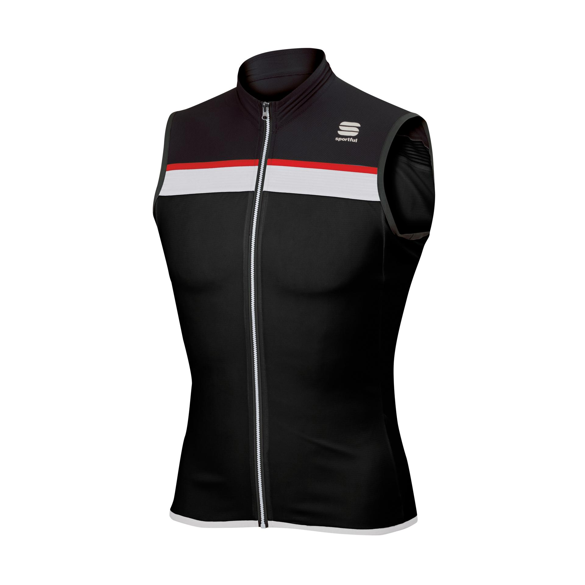 Afbeelding Sportful Fietsshirt mouwloos Heren Zwart Wit / SF Pista Sleeveless-Black/White/Red