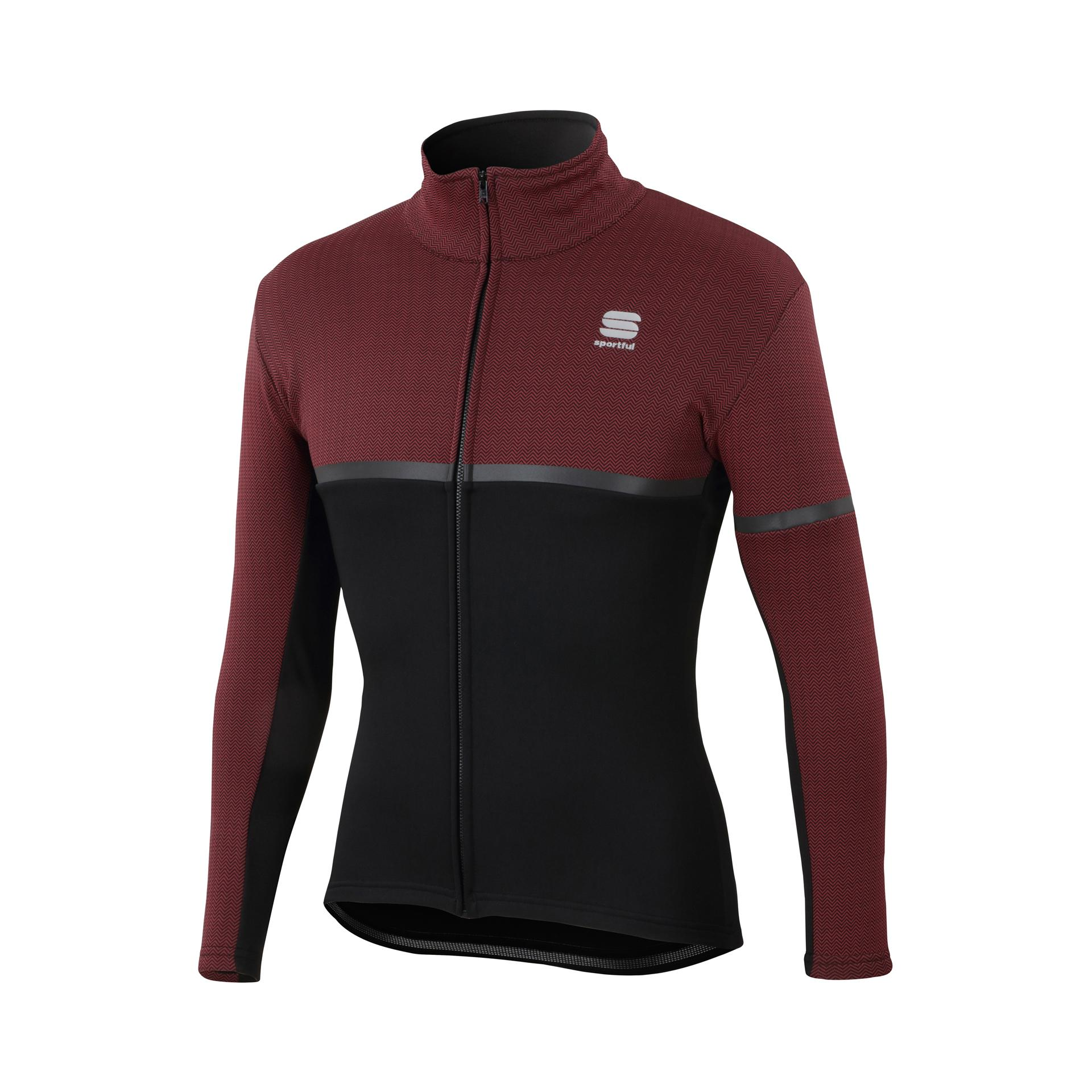 Sportful Fietsjack Heren Zwart Rood / SF Giara Softshell Jacket-Black/Ruby Wine