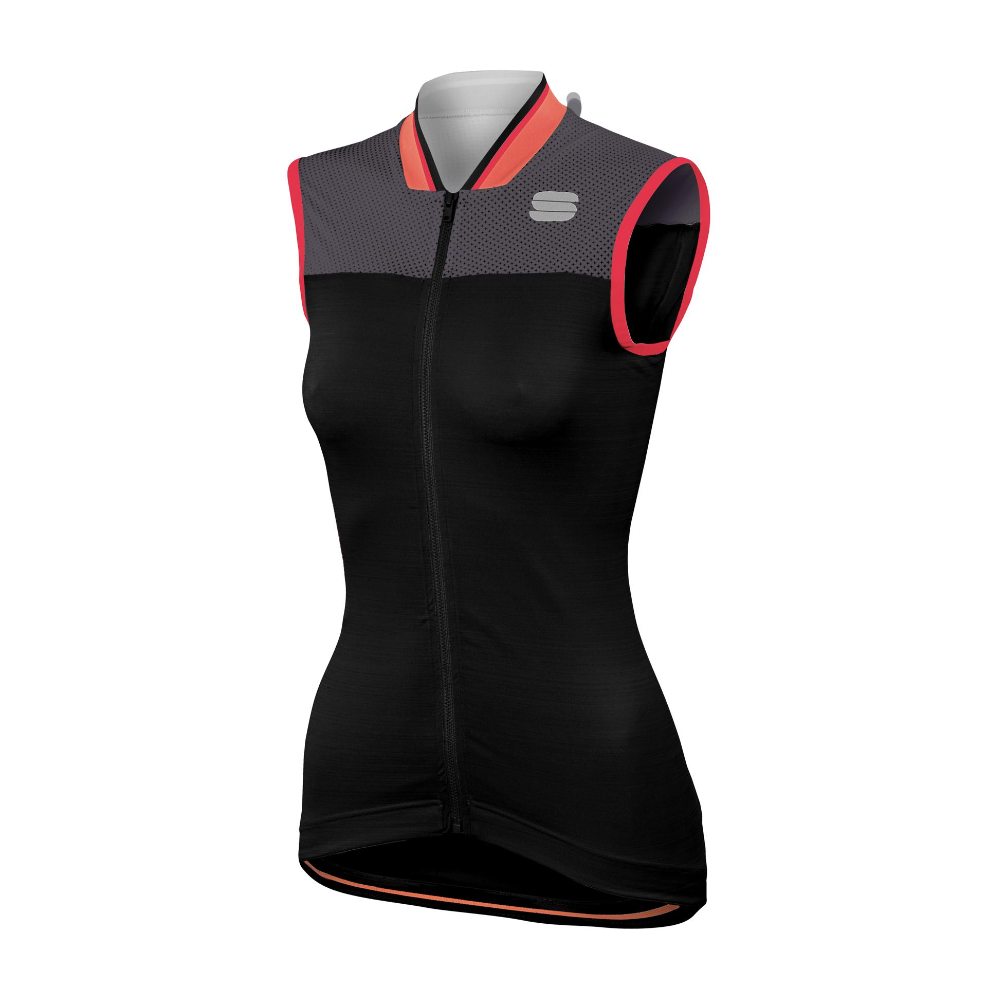 Sportful Fietsshirt mouwloos Dames Zwart Grijs / SF Grace Sleeveless-Black/Anthracite