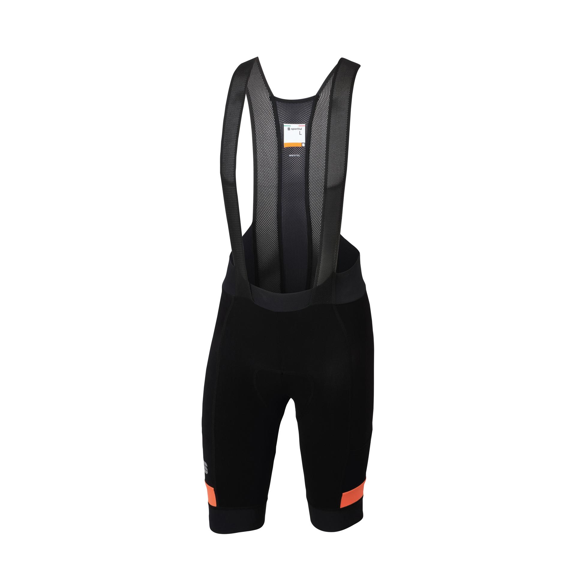 Afbeelding Sportful Fietsbroek met bretels - koersbroek Heren Zwart Oranje / SF Supergiara Bibshort-Black/Orange Sdr