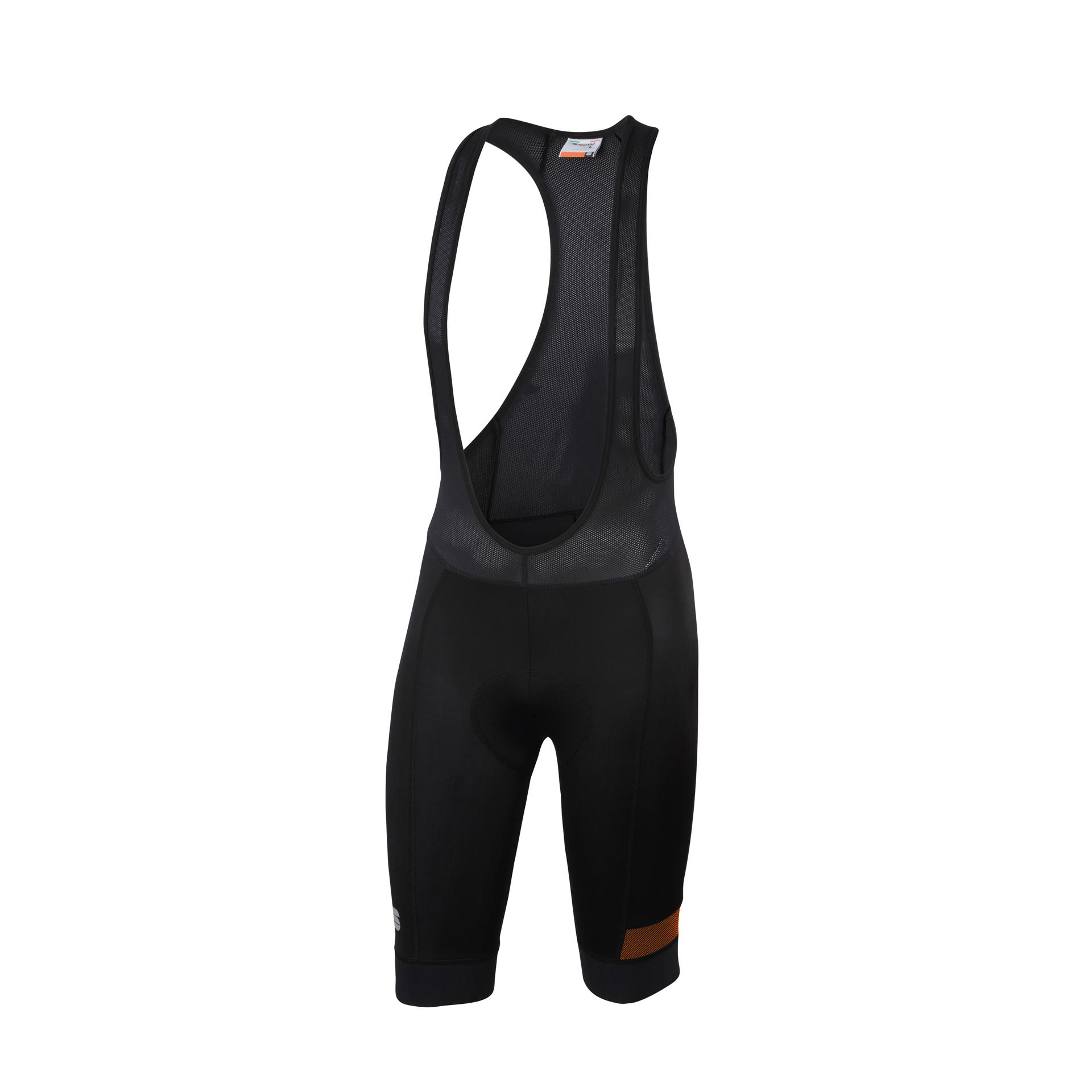 Afbeelding Sportful Fietsbroek met bretels - koersbroek Heren Zwart Oranje / SF Giara Bibshort-Black/Orange Sdr