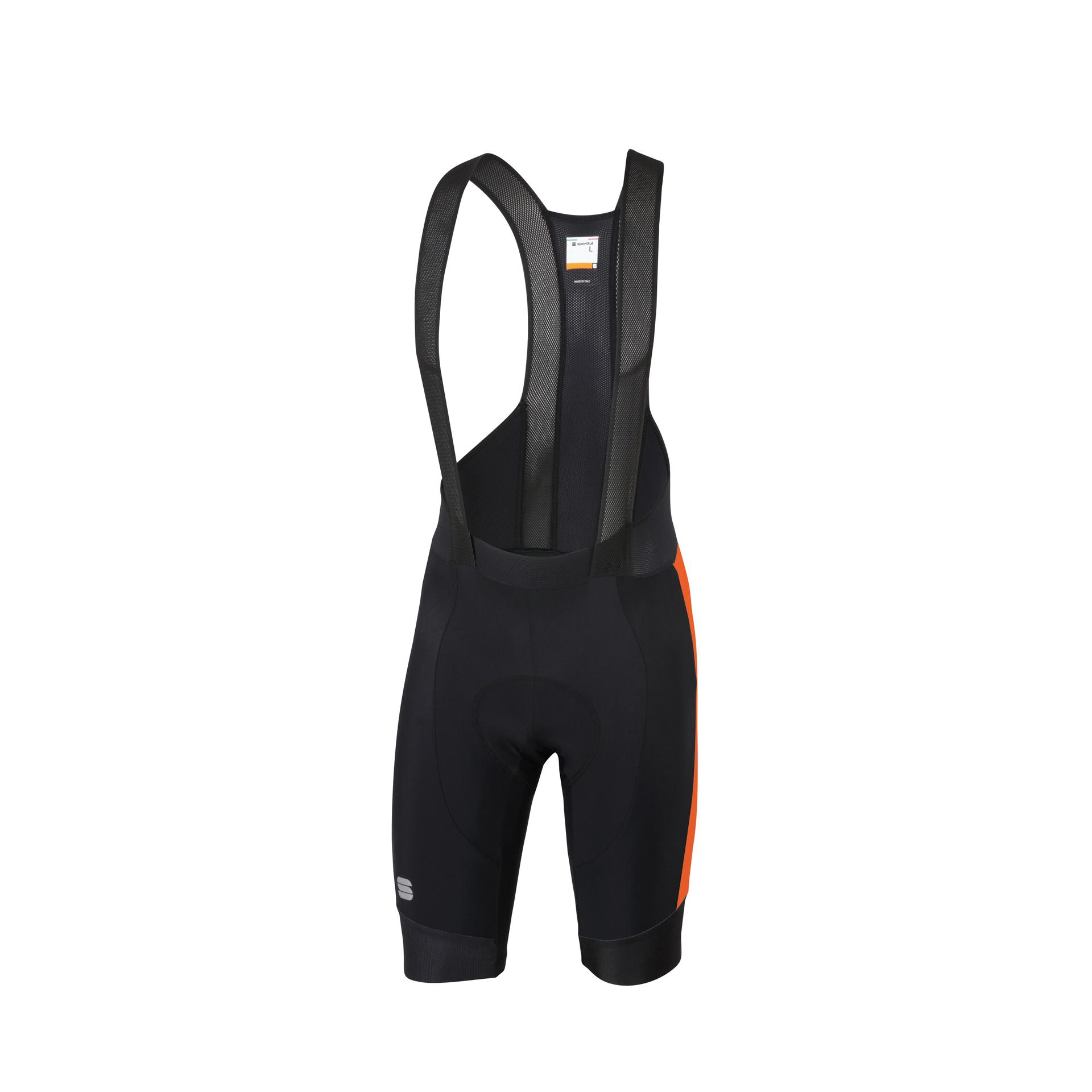 Afbeelding Sportful Fietsbroek met bretels - koersbroek Heren Zwart Oranje / SF Gts  Bibshort-Black/Orange Sdr