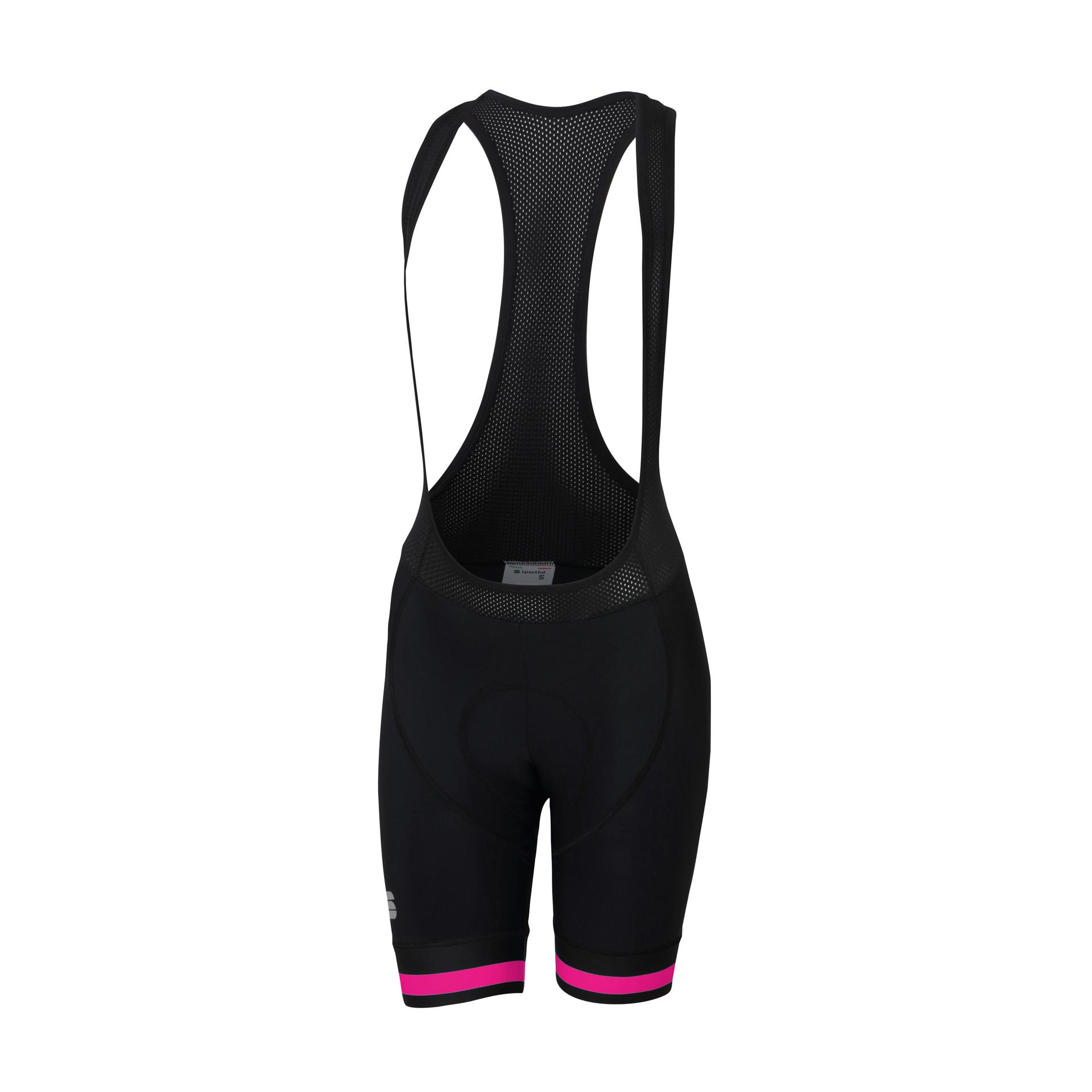 Sportful Fietsbroek met bretels - koersbroek Dames Zwart Roze / SF Bf Classic W Bibshort-Black/Bubble Gum