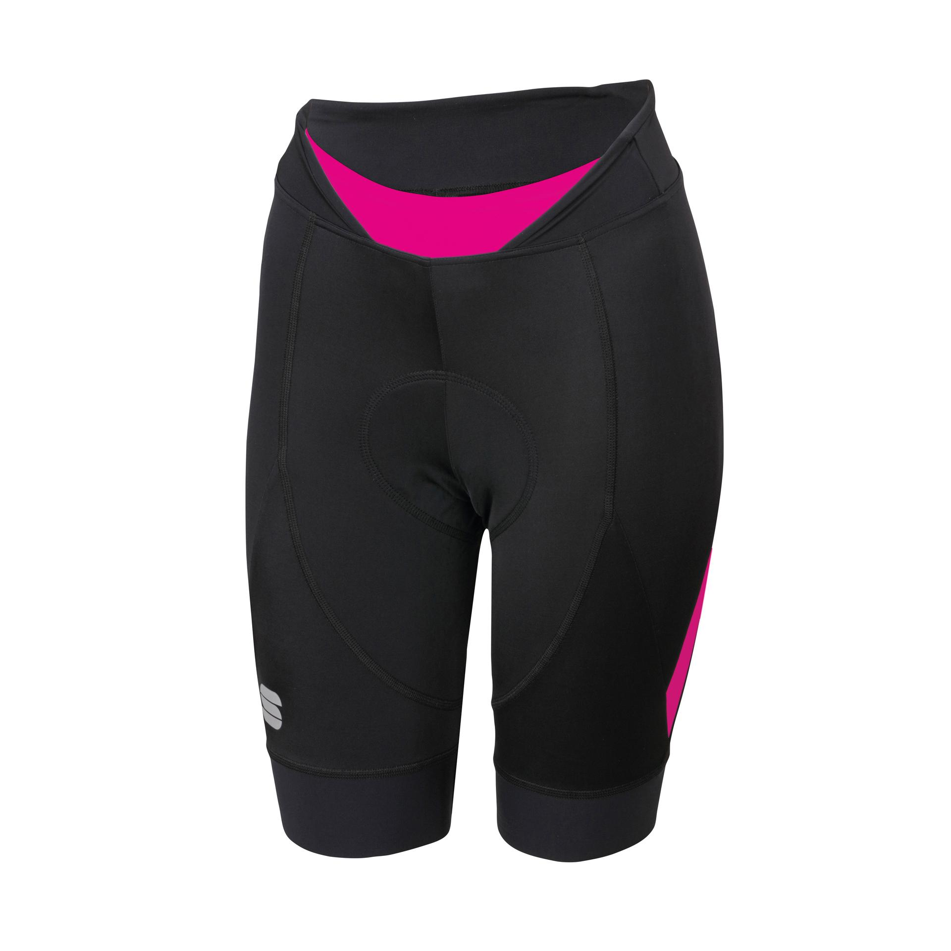 Sportful Fietsbroek zonder bretels Dames Zwart Roze / SF Neo W Short-Black/Bubble Gum