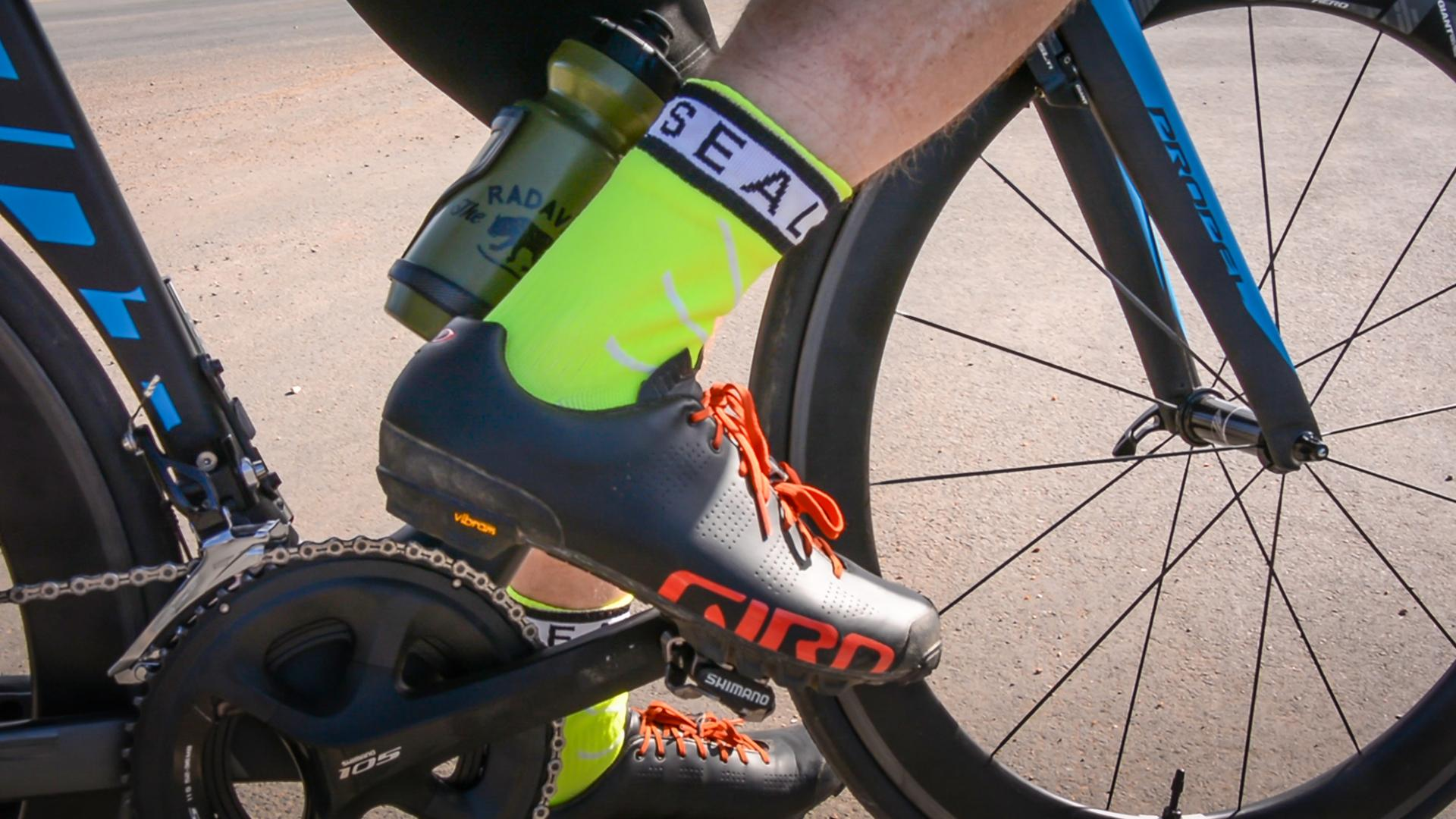 Afbeelding Sealskinz Fietssokken Fluo Zwart / SS Super Thin Pro Mid sock with Hydrostop-Neon Yellow/White/Black
