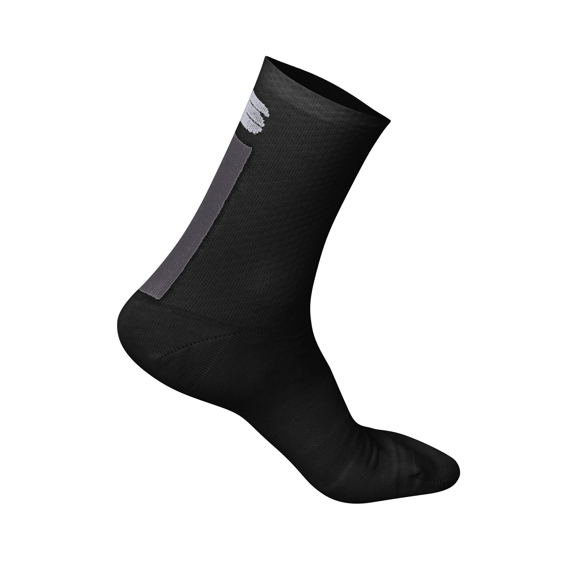 Sportful Fietssokken winter Dames Zwart Grijs / Wool W 16 Sock-Black/Anthracite