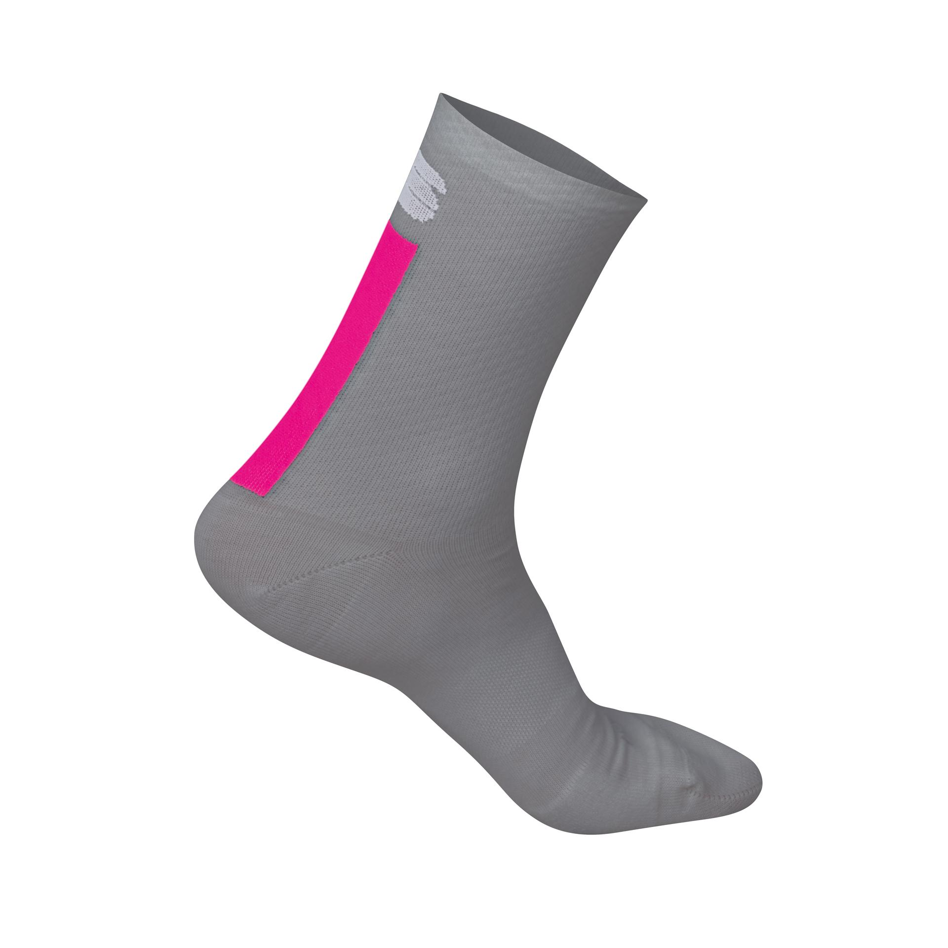 Sportful Fietssokken winter Dames Grijs Roze / Wool W 16 Sock-Alaska Grey/Bubble Gum