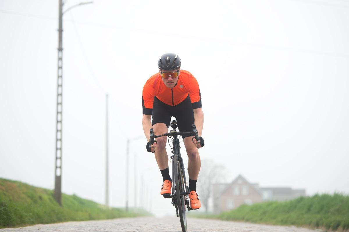 Sportful Fietsjack Korte mouwen Zeer sterk waterafstotend voor Heren Oranje - SF Fiandre Light No Rain Jacket S-Orange Sdr