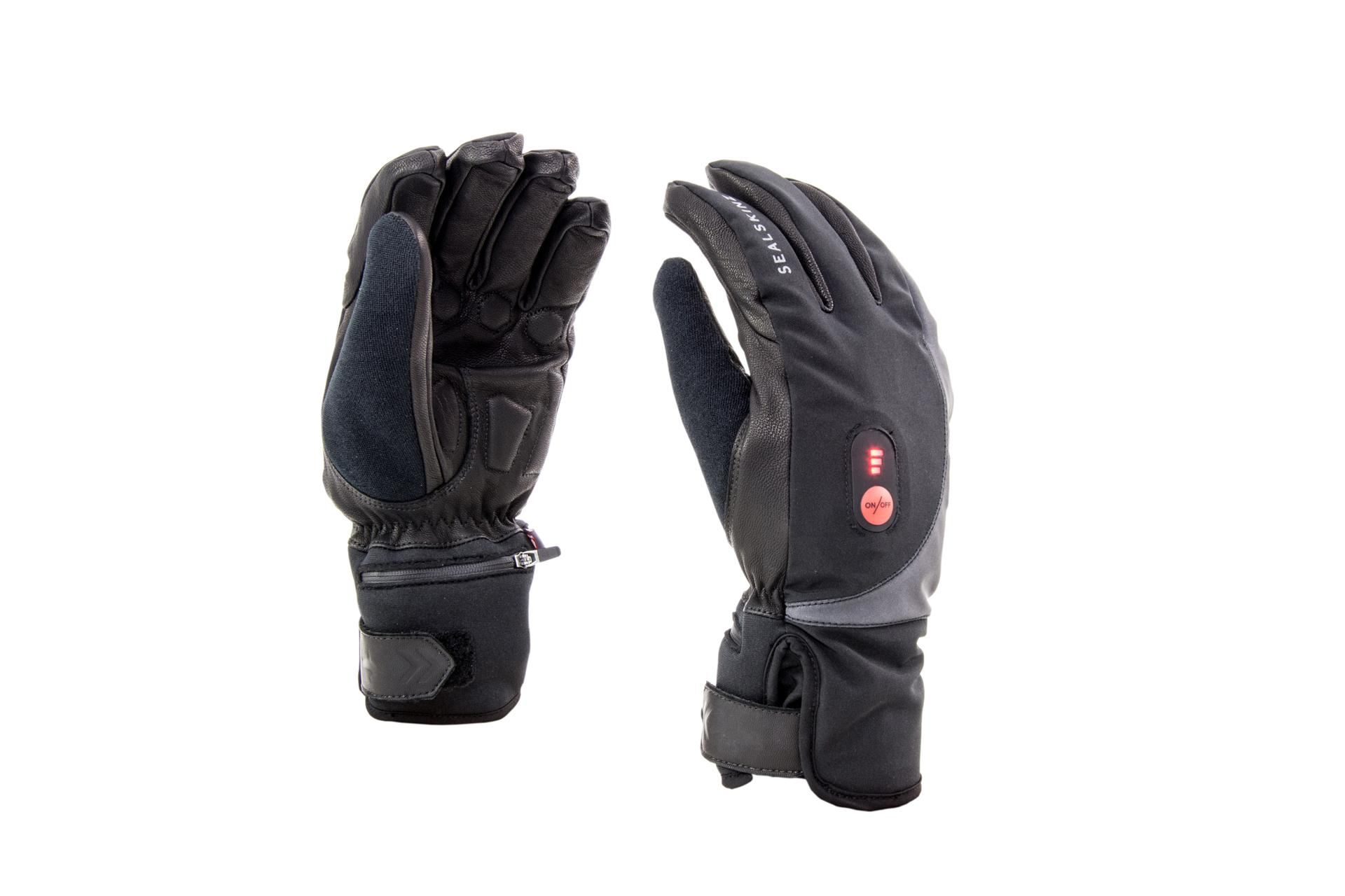Afbeelding Sealskinz Fietshandschoenen Zwart Rood / SS Cold Weather Heated Cycle Glove-Black/Red