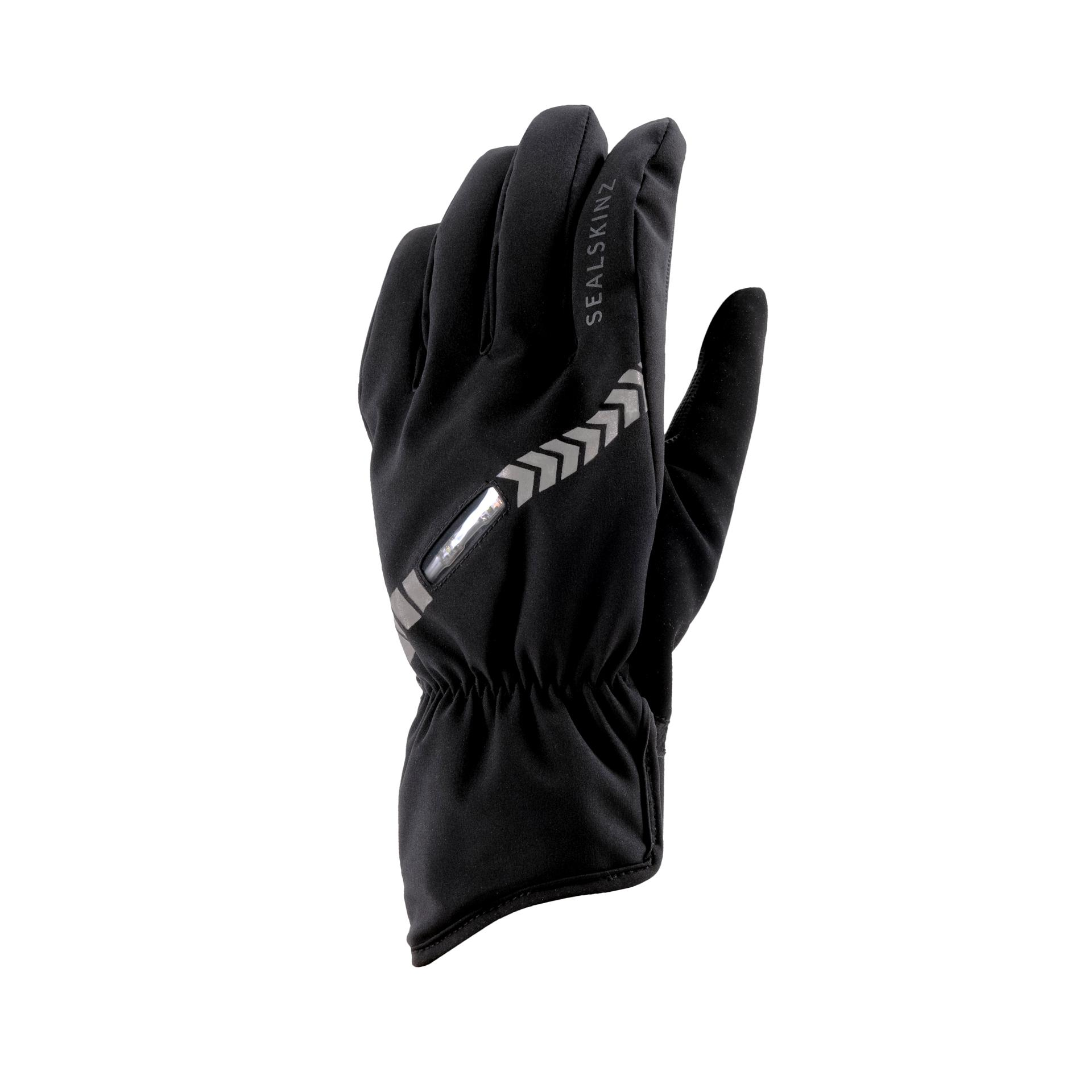 Afbeelding Sealskinz Fietshandschoenen waterdicht voor Heren Zwart  / Waterproof All Weather LED Cycle Glove Black