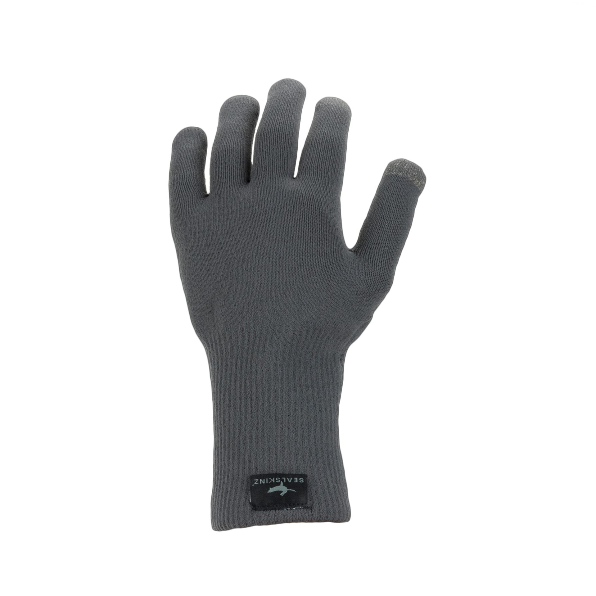 Afbeelding Sealskinz Fietshandschoenen waterdicht voor Heren Grijs  / Waterproof All Weather Ultra Grip Knitted Glove Grey