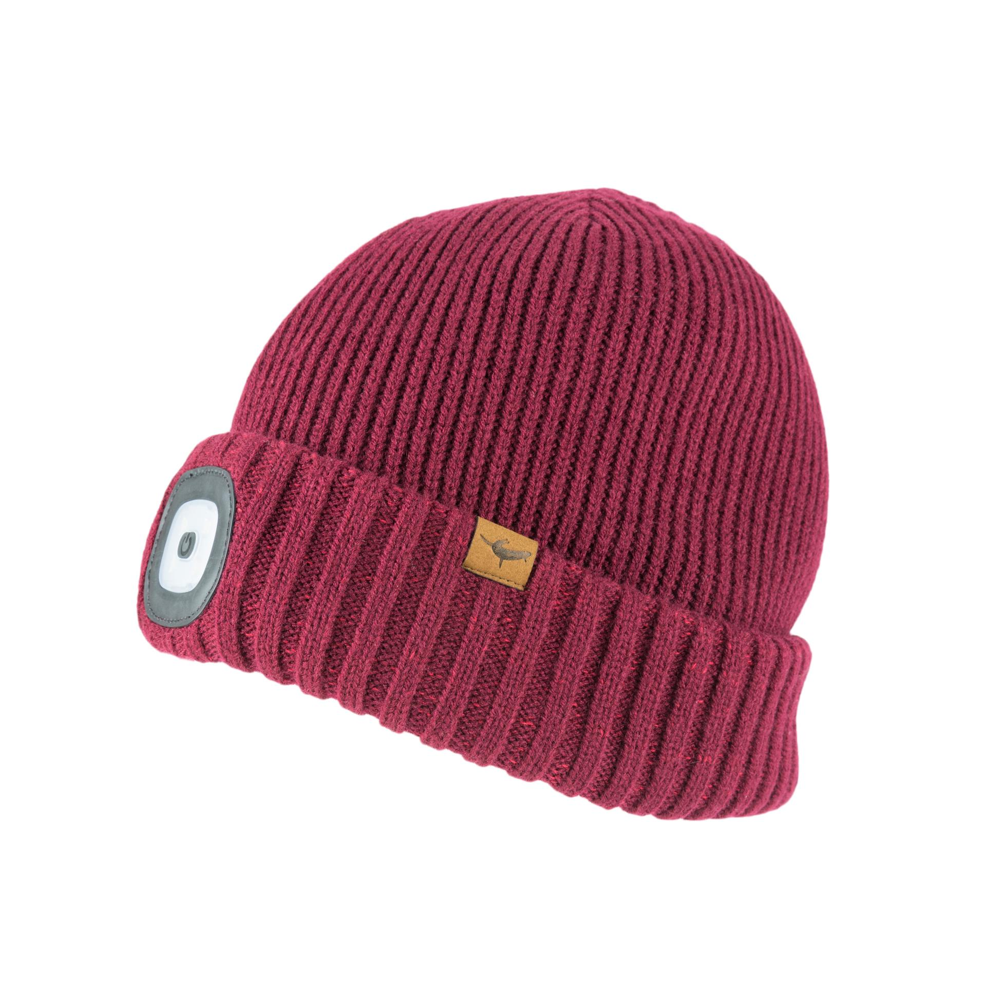 Afbeelding Sealskinz Casual muts waterdicht voor Heren Rood  / Waterproof Cold Weather LED Roll Cuff Beanie Red