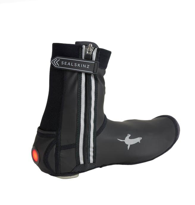 Sealskinz Overschoenen  voor Heren Zwart  / All Weather LED Open Sole Cycle Overshoe Black