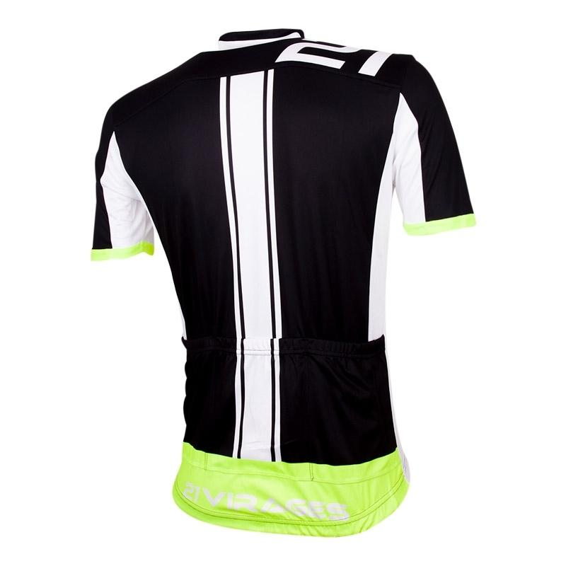 Wielershirt 21Virages Twenty One zwart Fluo Geel
