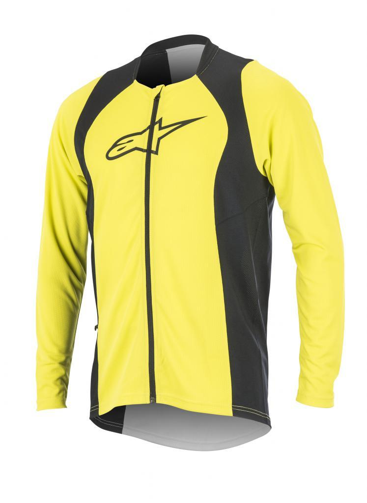 Afbeelding Alpinestars MTB shirt lange mouwen Heren Fluo Zwart /  AL Drop 2 Full Zip L/S Jersey-Acid Yellow Black