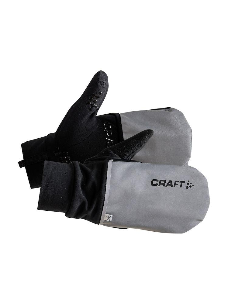 Craft Fietshandschoenen Winter Unisex Zilver Zwart / HYBRID WEATHER GLOVE SILVER/BLACK