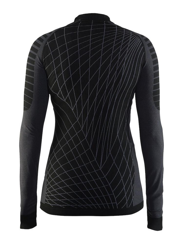 Craft Ondershirt Lange mouwen Dames Zwart Grijs / ACTIVE INTENSITY CN LS W BLACK/GRANITE