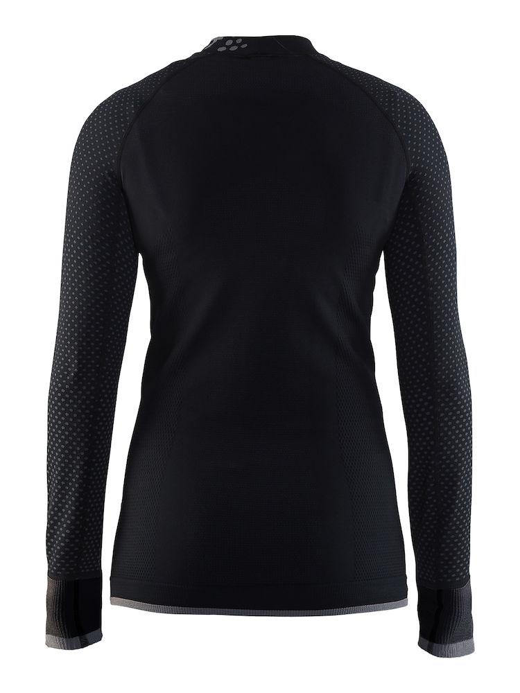 Craft Ondershirt Lange mouwen Dames Zwart Grijs / WARM INTENSITY CN LS W BLACK/GRANITE