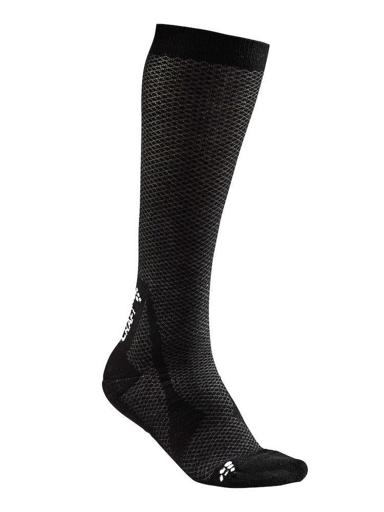 Craft 2 paar fietssokken Winter Unisex Zwart Wit / WARM HIGH 2-PACK SOCK BLACK/WHITE