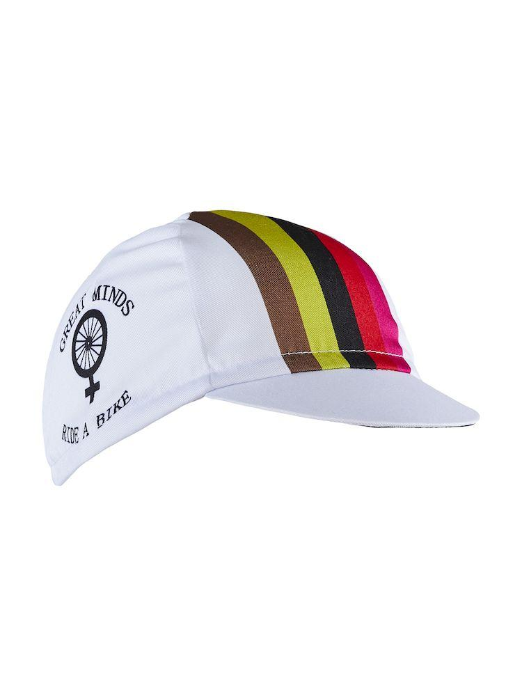 Craft Fietspetje Unisex Wit Multikleur - RACE BIKE CAP WHITE/FAME