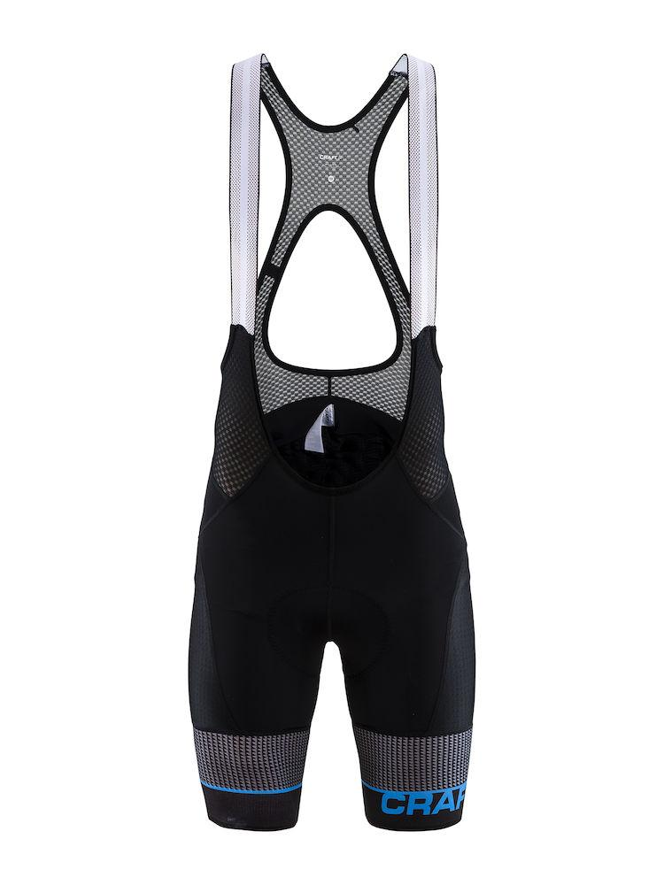 Craft Fietsbroek met bretels - koersbroek Heren Zwart  / ROUTE BIB SHORTS M BLACK/HAVEN