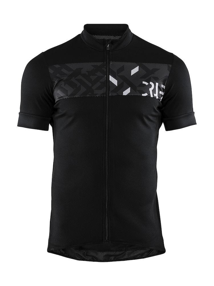 Craft Fietsshirt Heren Zwart  / REEL JERSEY M BLACK/CREST