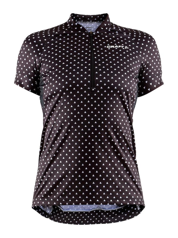 Craft Fietsshirt Dames Zwart Wit / VELO ART JERSEY W BLACK/WHITE