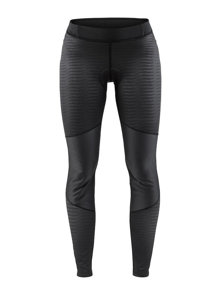 Craft Fietsbroek lang zonder bretels Dames Zwart Zwart / IDEAL WIND TIGHTS W BLACK/BLACK