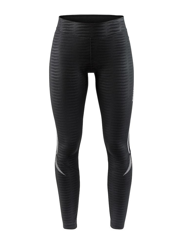 Craft Fietsbroek lang zonder bretels Dames Zwart Zwart / IDEAL THERMAL TIGHTS W BLACK/BLACK