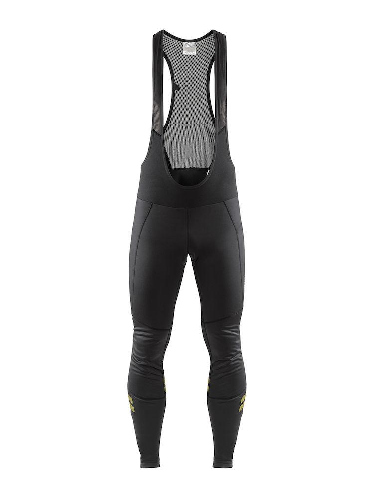 Craft Fietsbroek lang met bretels Heren Zwart Fluo / IDEAL WIND BIB TIGHTS M BLACK/FLUMINO