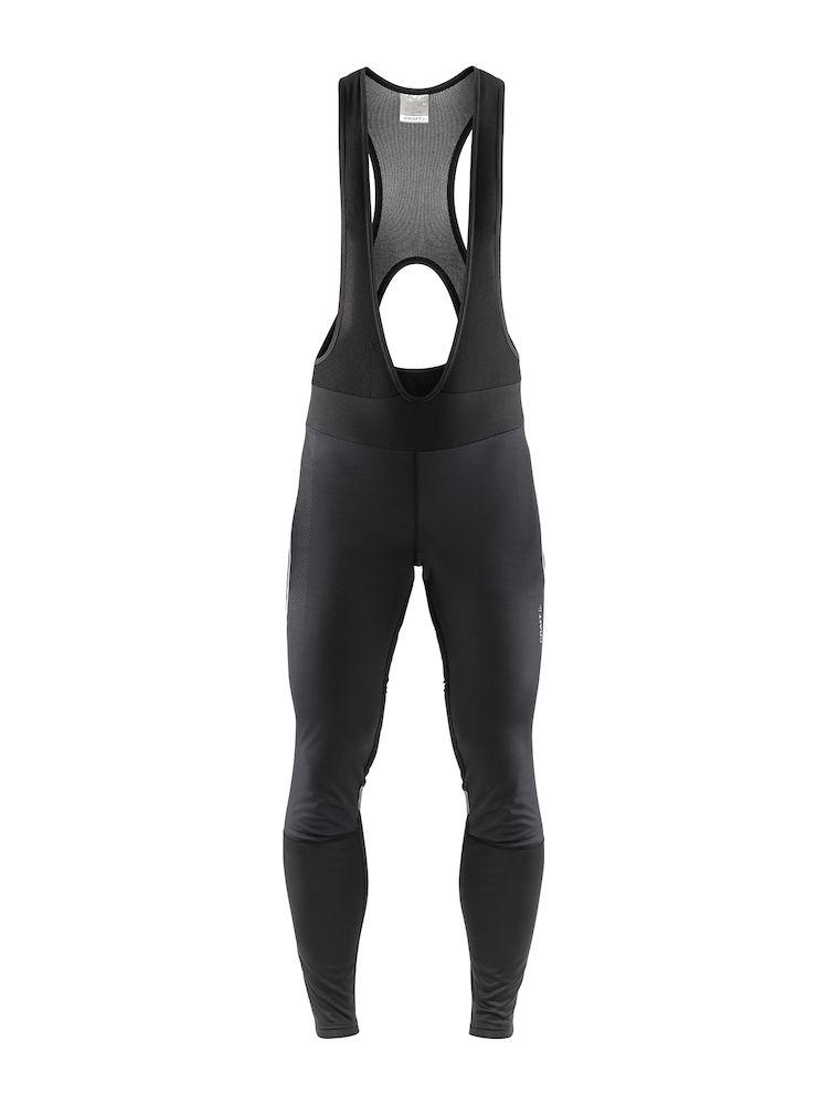 Craft Fietsbroek lang met bretels Heren Zwart  / IDEAL PRO WIND BIB TIGHTS M BLACK (zonder zeem)