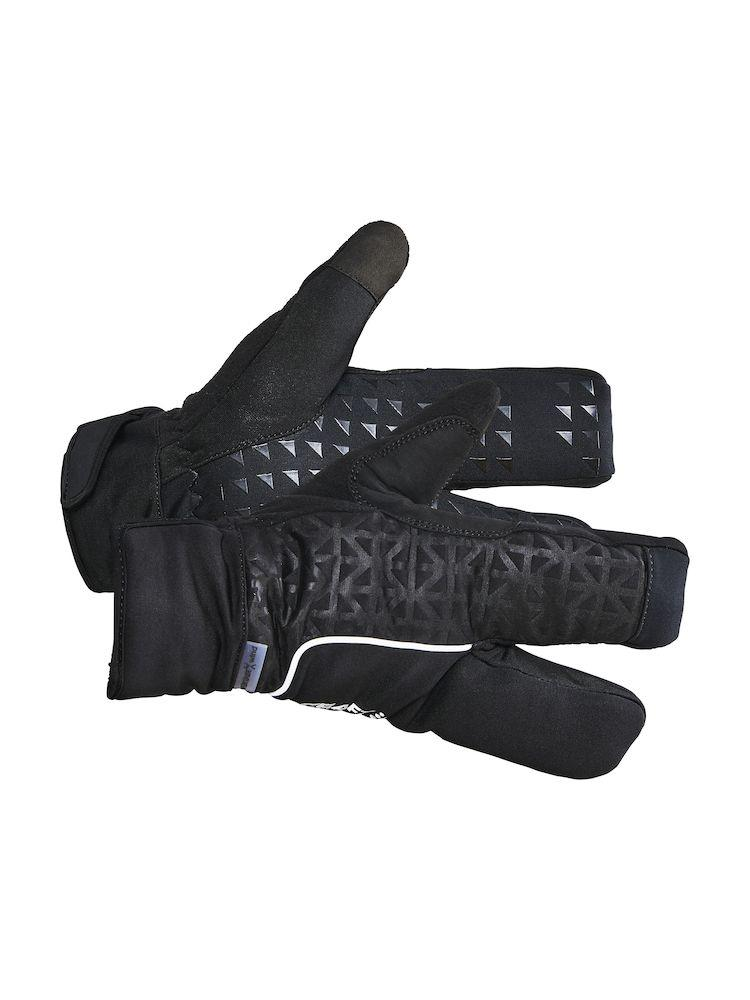 Craft Fietshandschoenen Winter Unisex Zwart  / SIBERIAN 2.0 SPLIT FINGER GLOVE BLACK