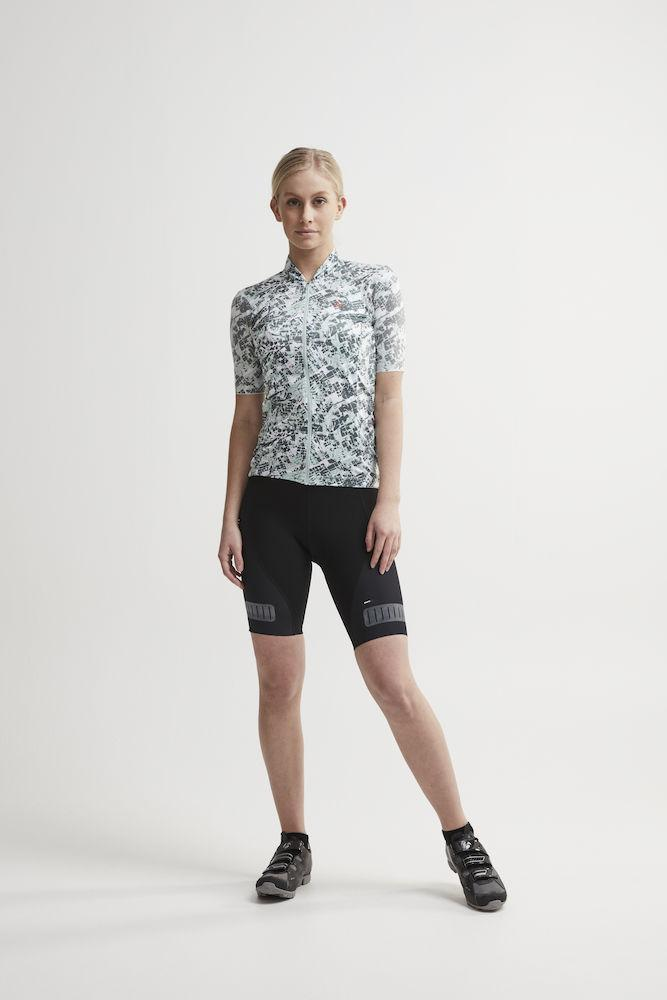 Craft Fietsshirt Dames Grijs  / HALE GRAPHIC JERSEY W PLEXI/GRAVITY